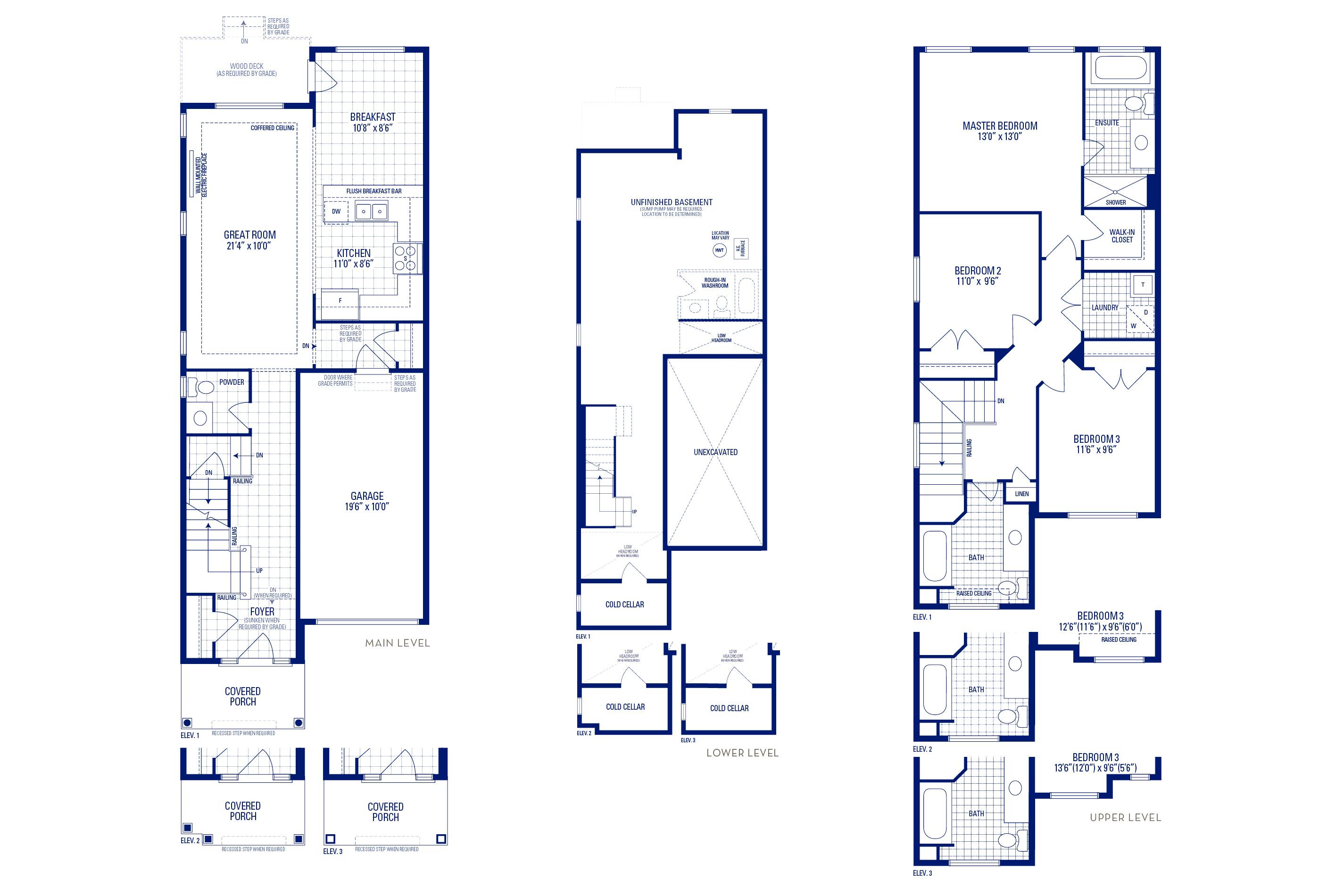 Glendale 03 Elev. 1 Floorplan Thumbnail