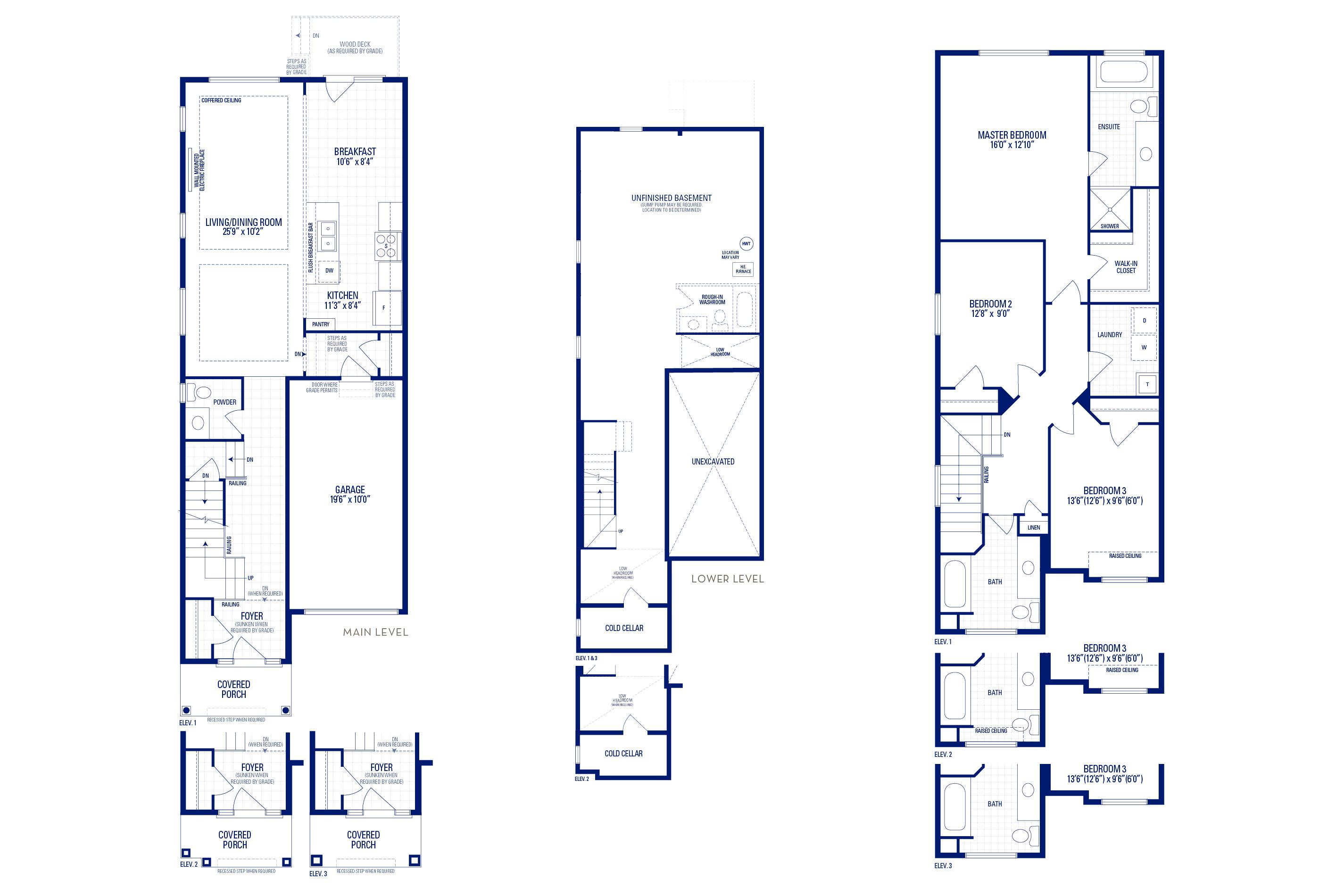 Glendale 06 Elev. 1 Floorplan Thumbnail