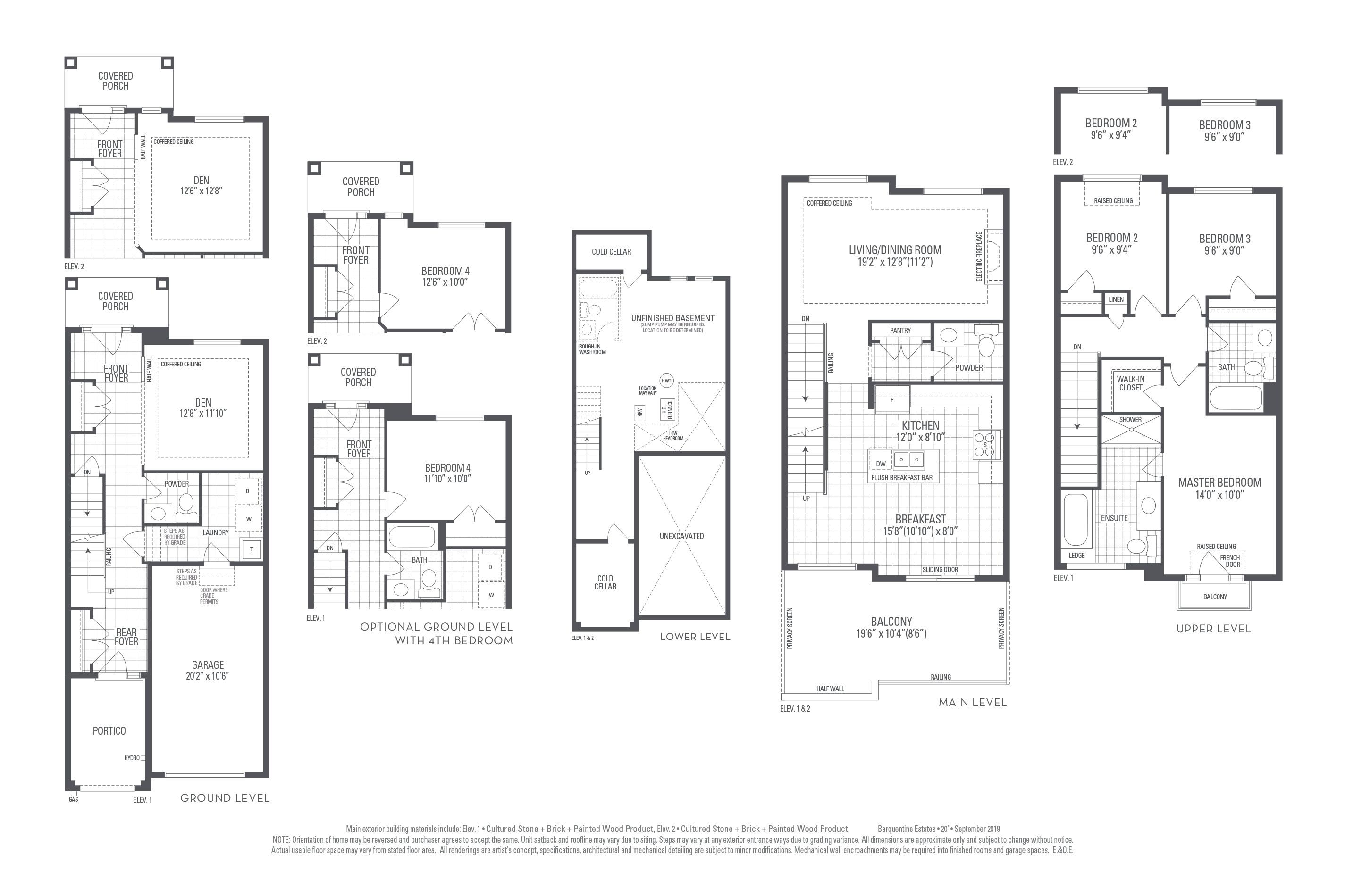 Greenwich 01 Elev. 1 Floorplan Thumbnail