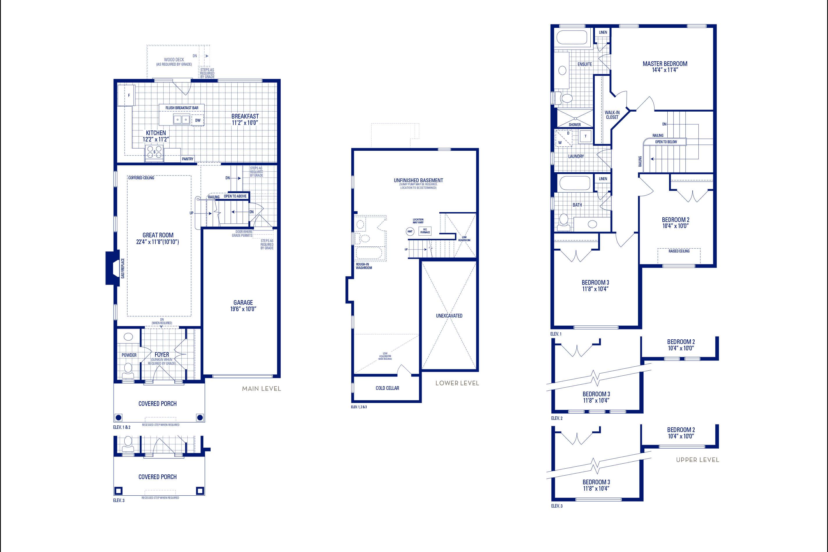 Heritage 1 Elev. 2 Floorplan Thumbnail