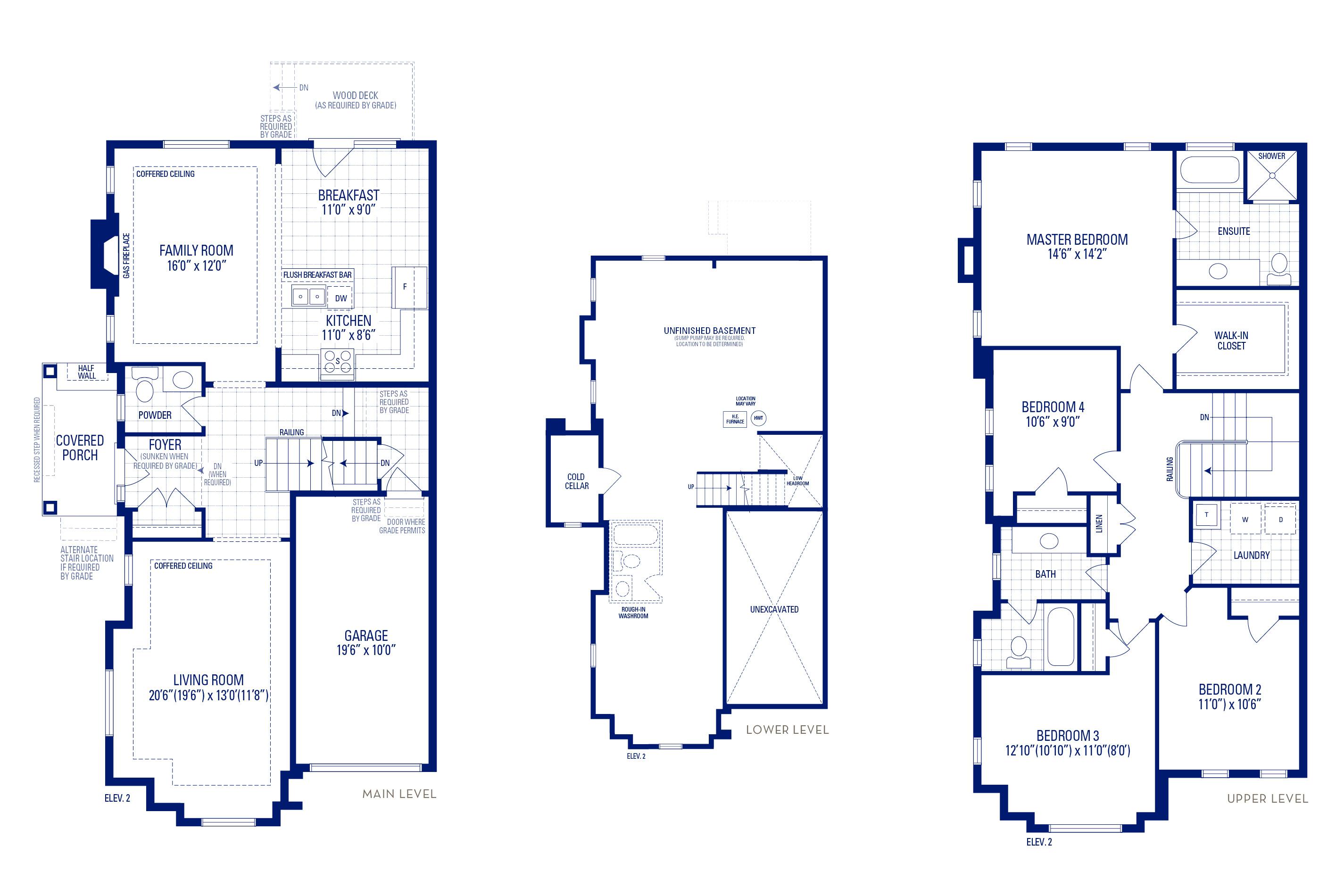 Heritage 12 Elev. 2 Floorplan Thumbnail