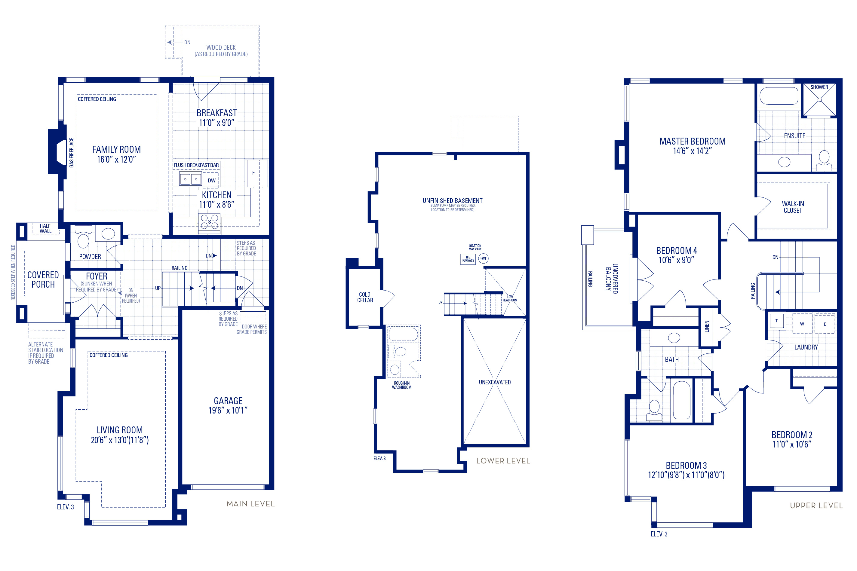 Heritage 12 Elev. 3 Floorplan Thumbnail