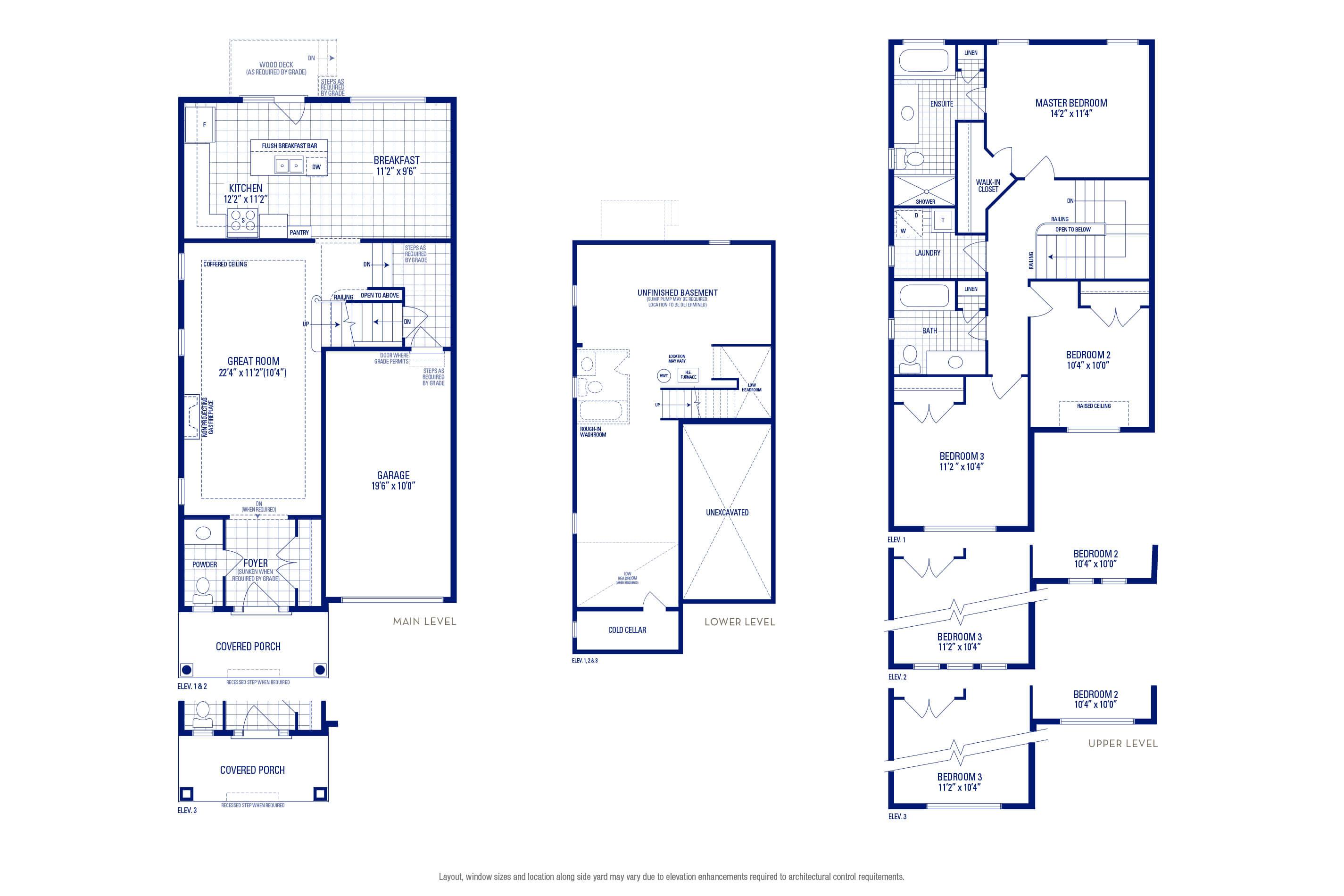 Heritage 01A Elev. 3 Floorplan Thumbnail