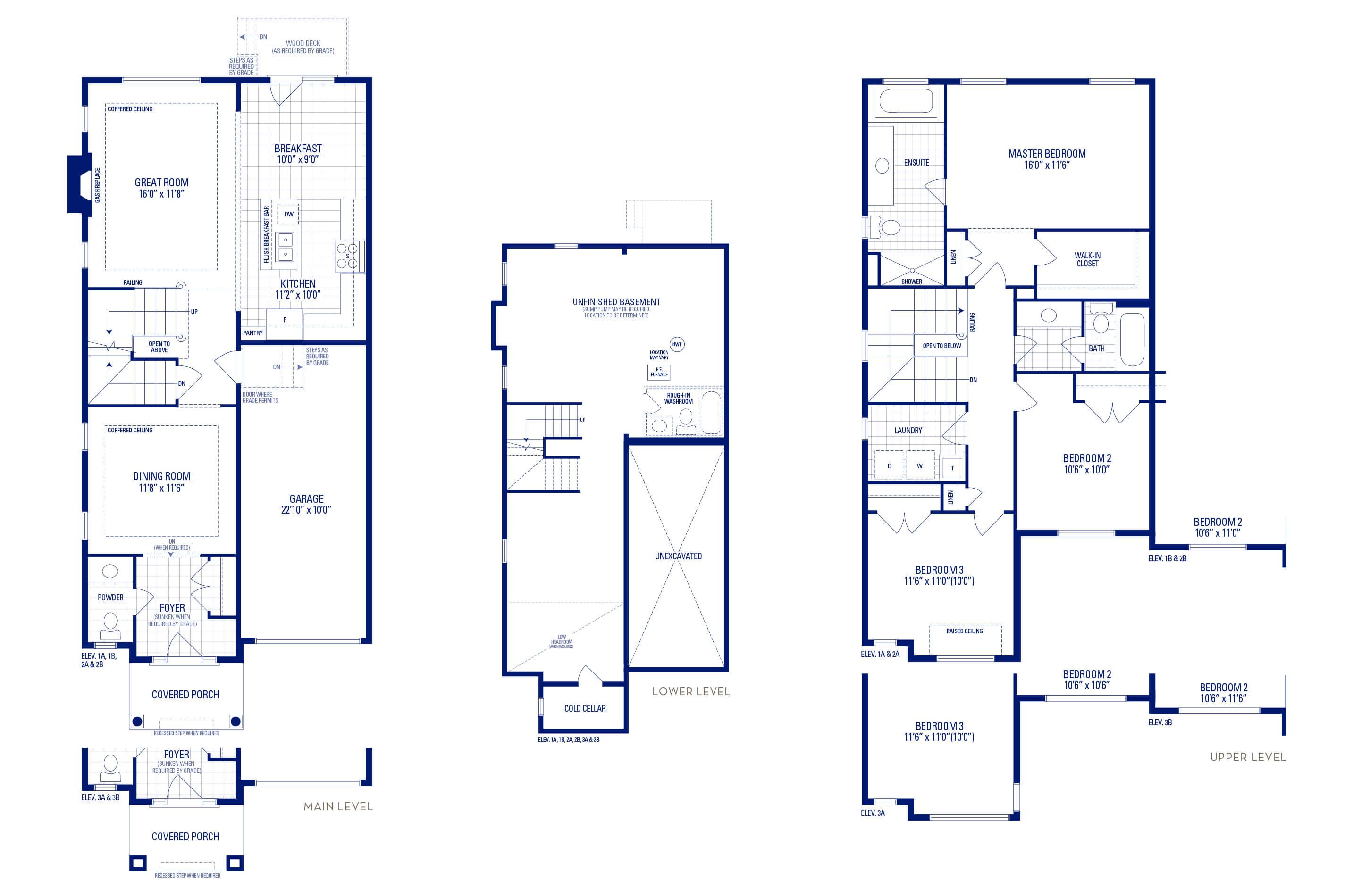 Heritage 2 Elev. 1B Floorplan Thumbnail