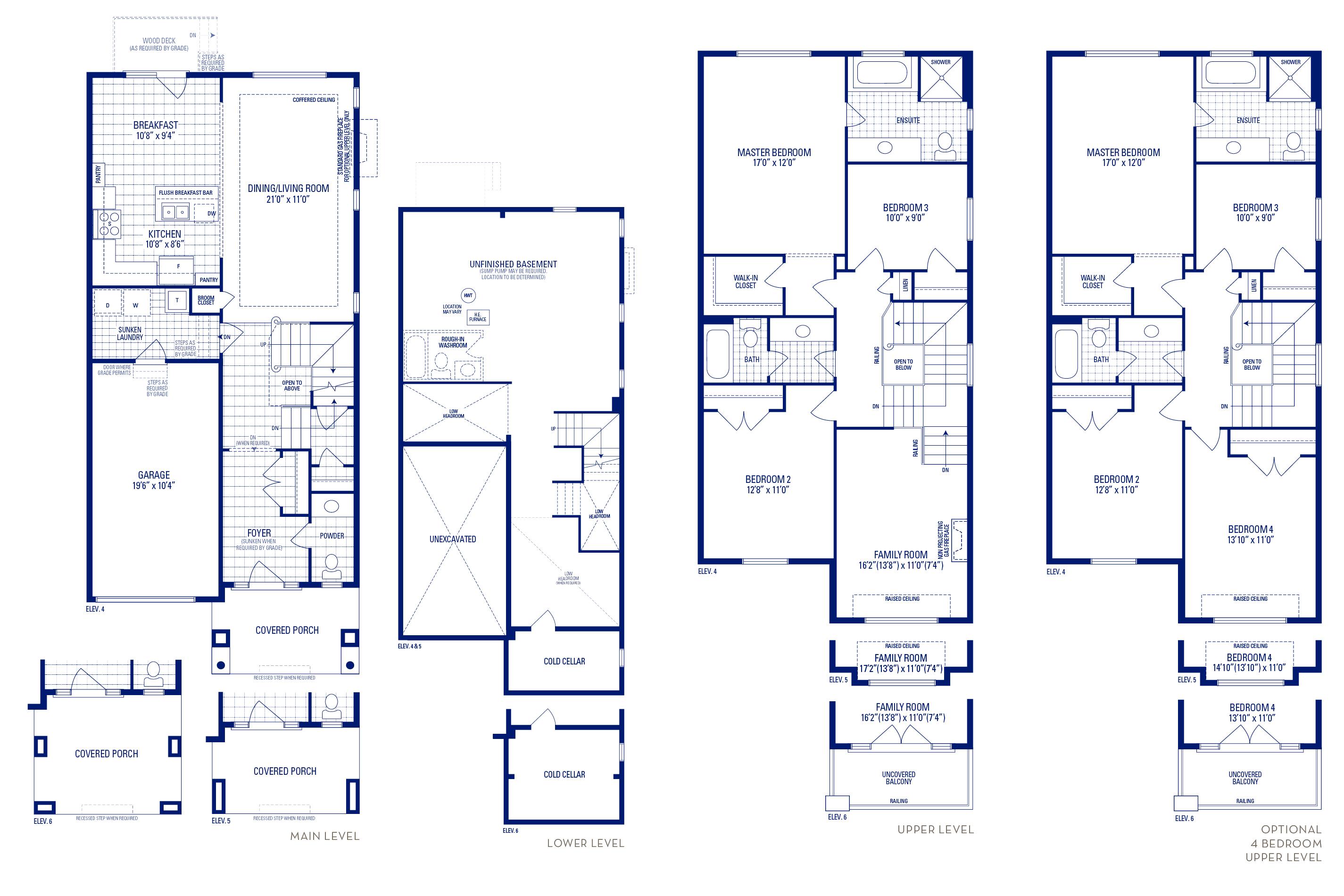 Heritage 03 Elev. 5 Floorplan Thumbnail