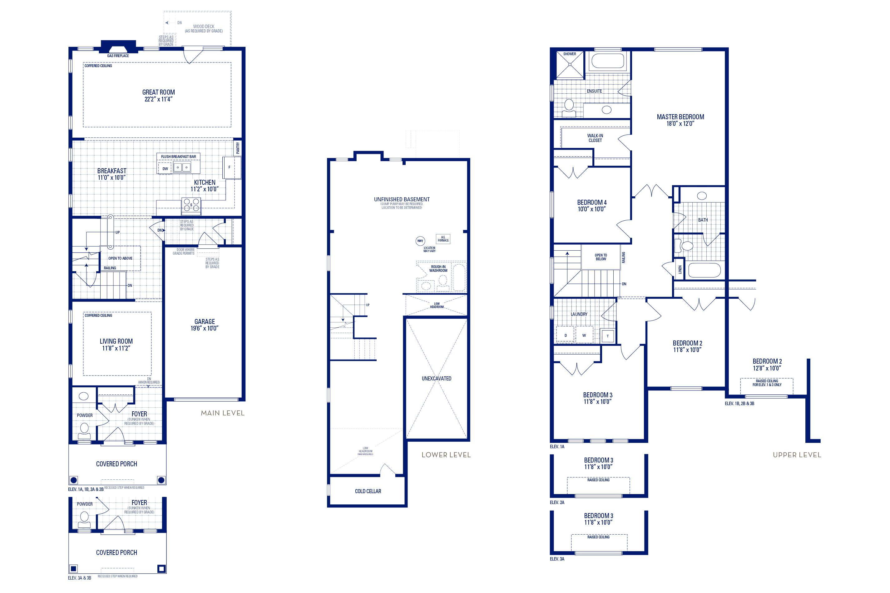 Heritage 4 Elev. 2A Floorplan Thumbnail
