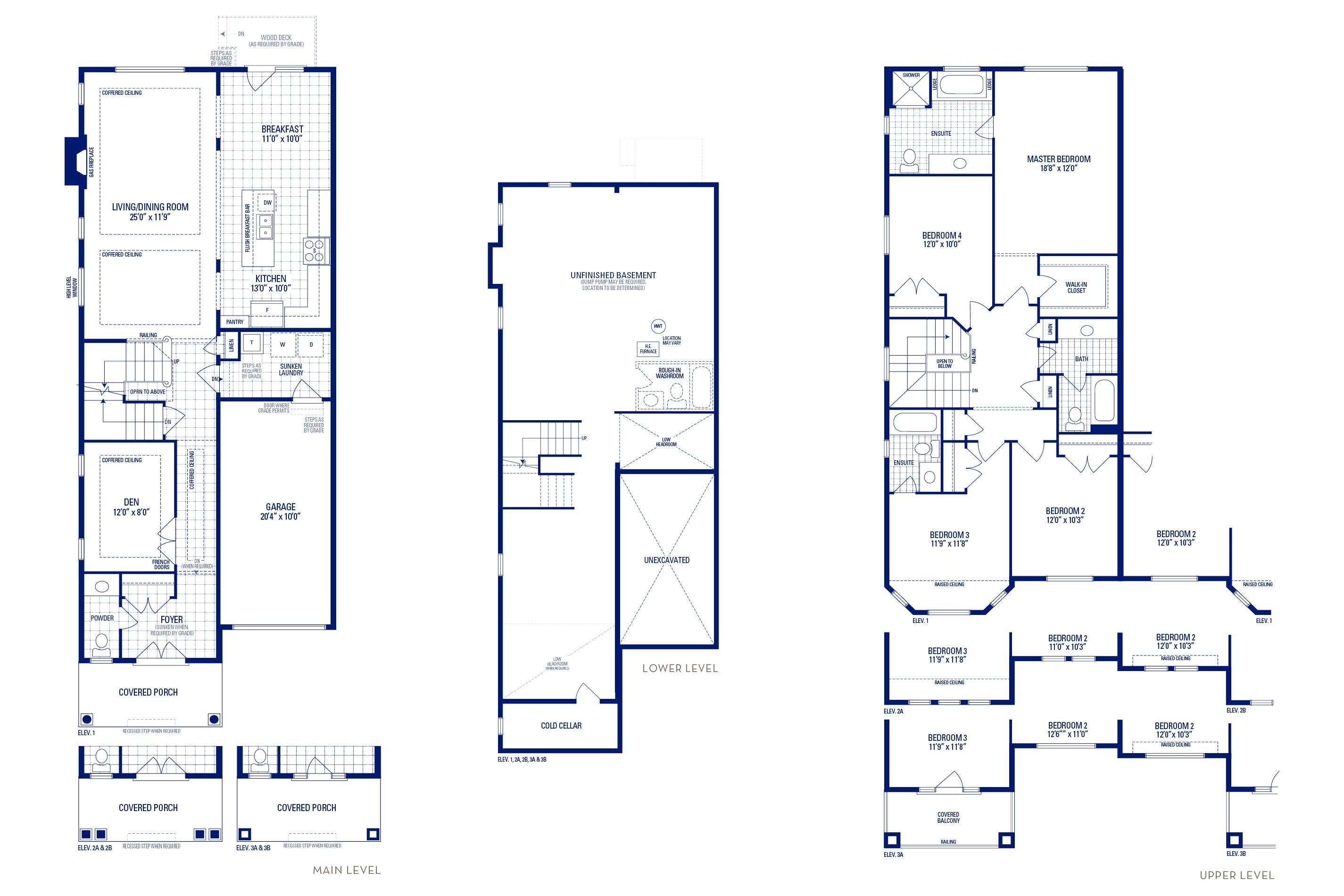 Heritage 05 Elev. 2B Floorplan Thumbnail