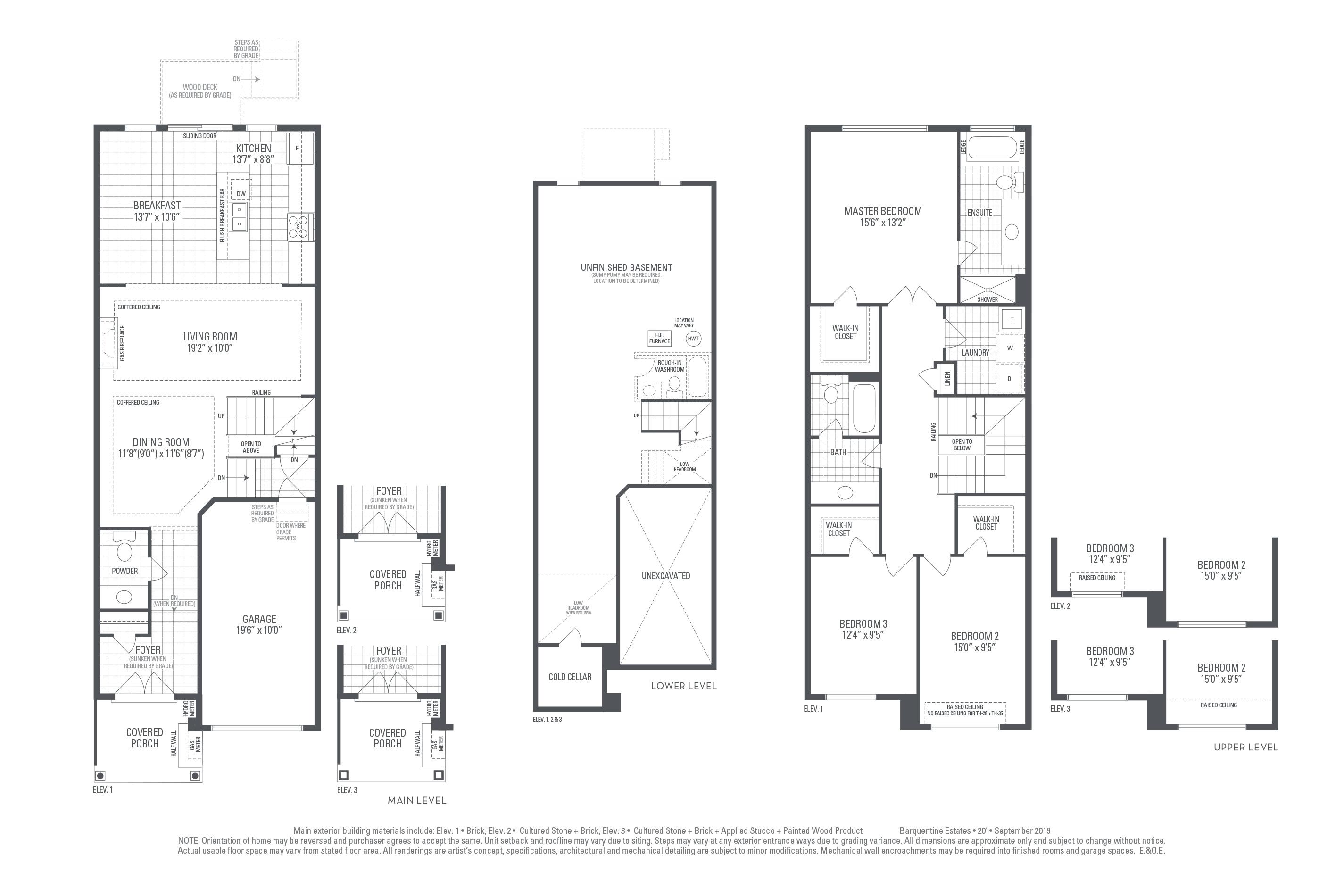 Hudson 02 Elev. 3 Floorplan Thumbnail