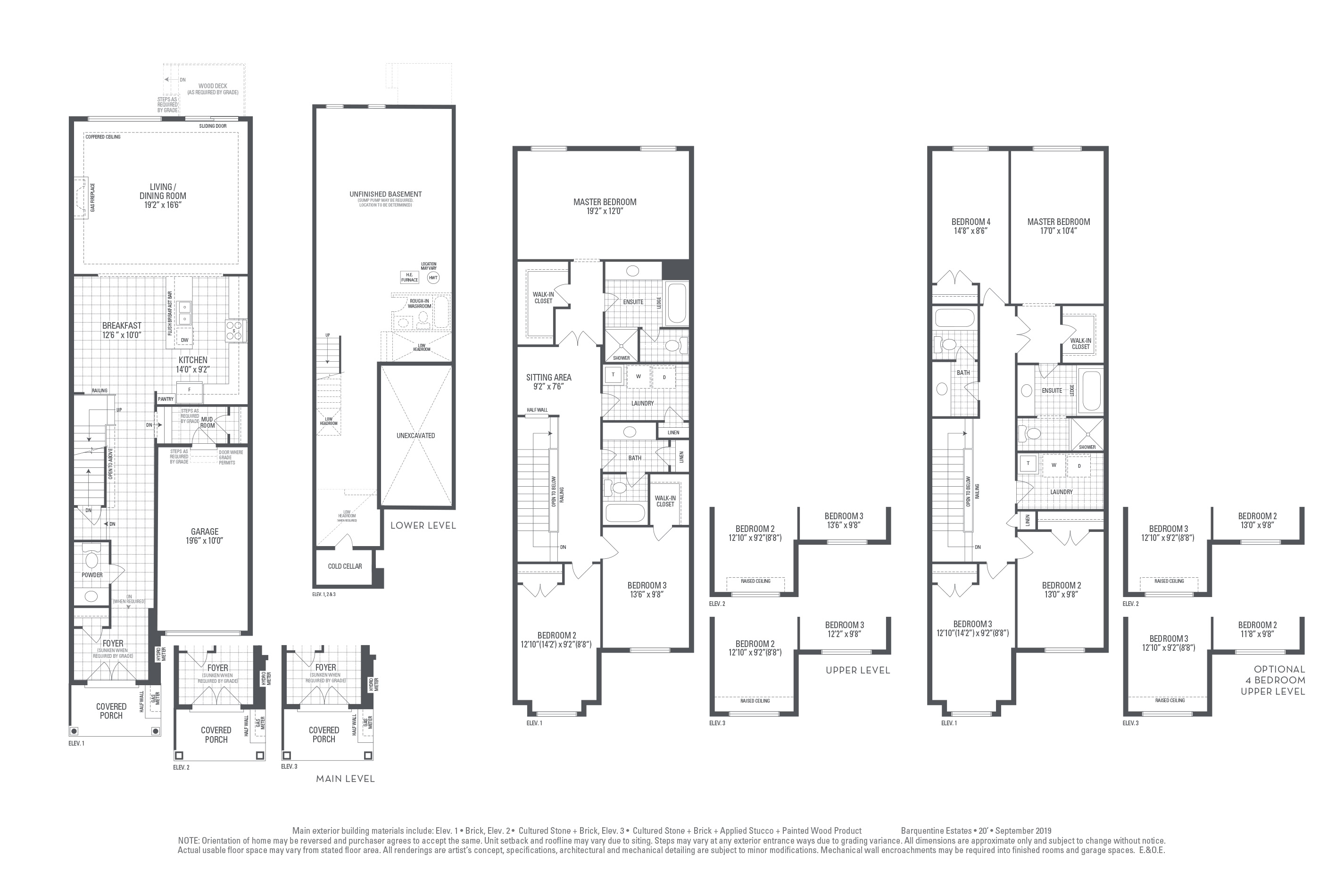 Hudson 04 Elev. 2 Floorplan Thumbnail