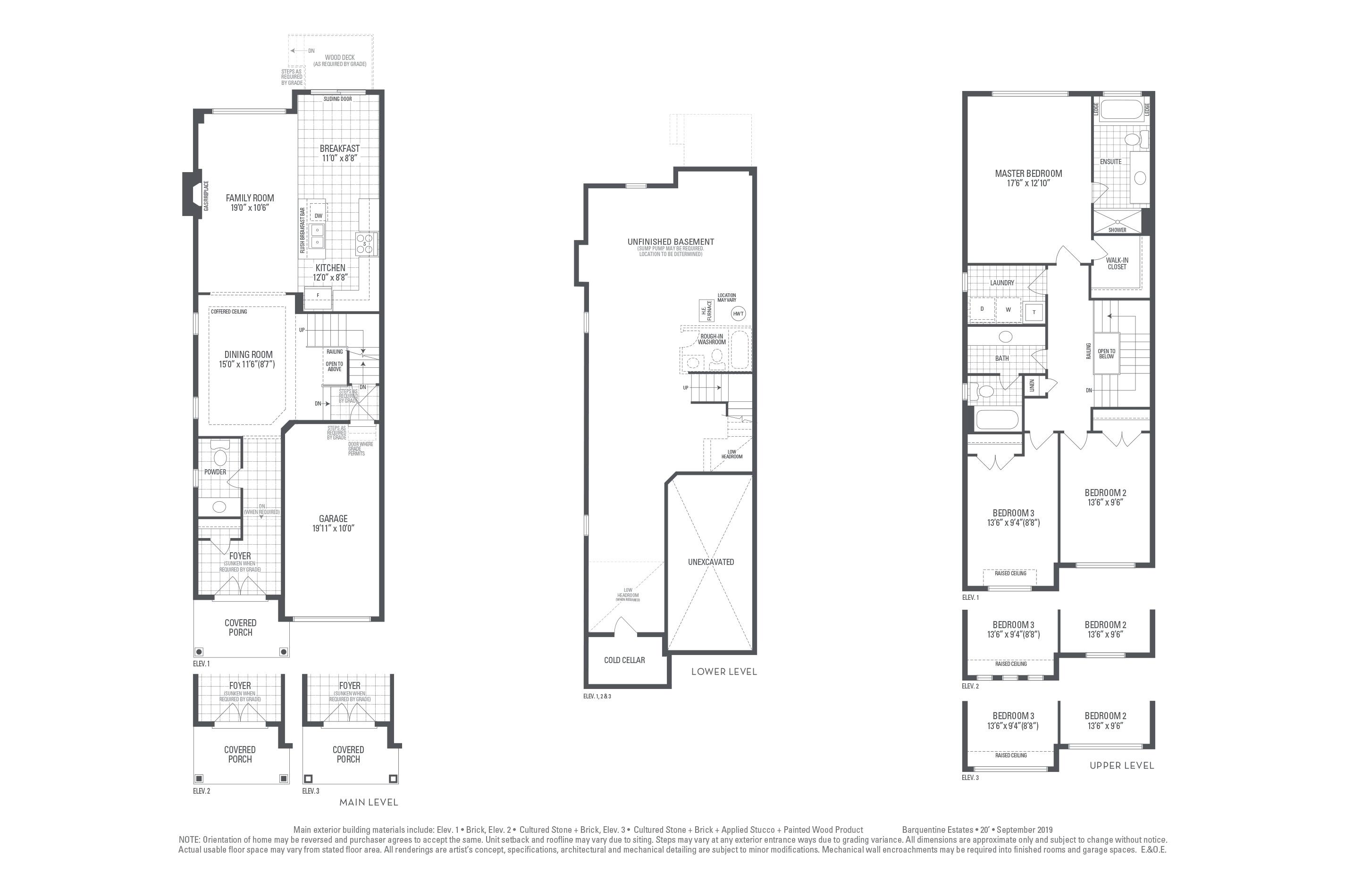 Hudson 05 Elev. 3 Floorplan Thumbnail