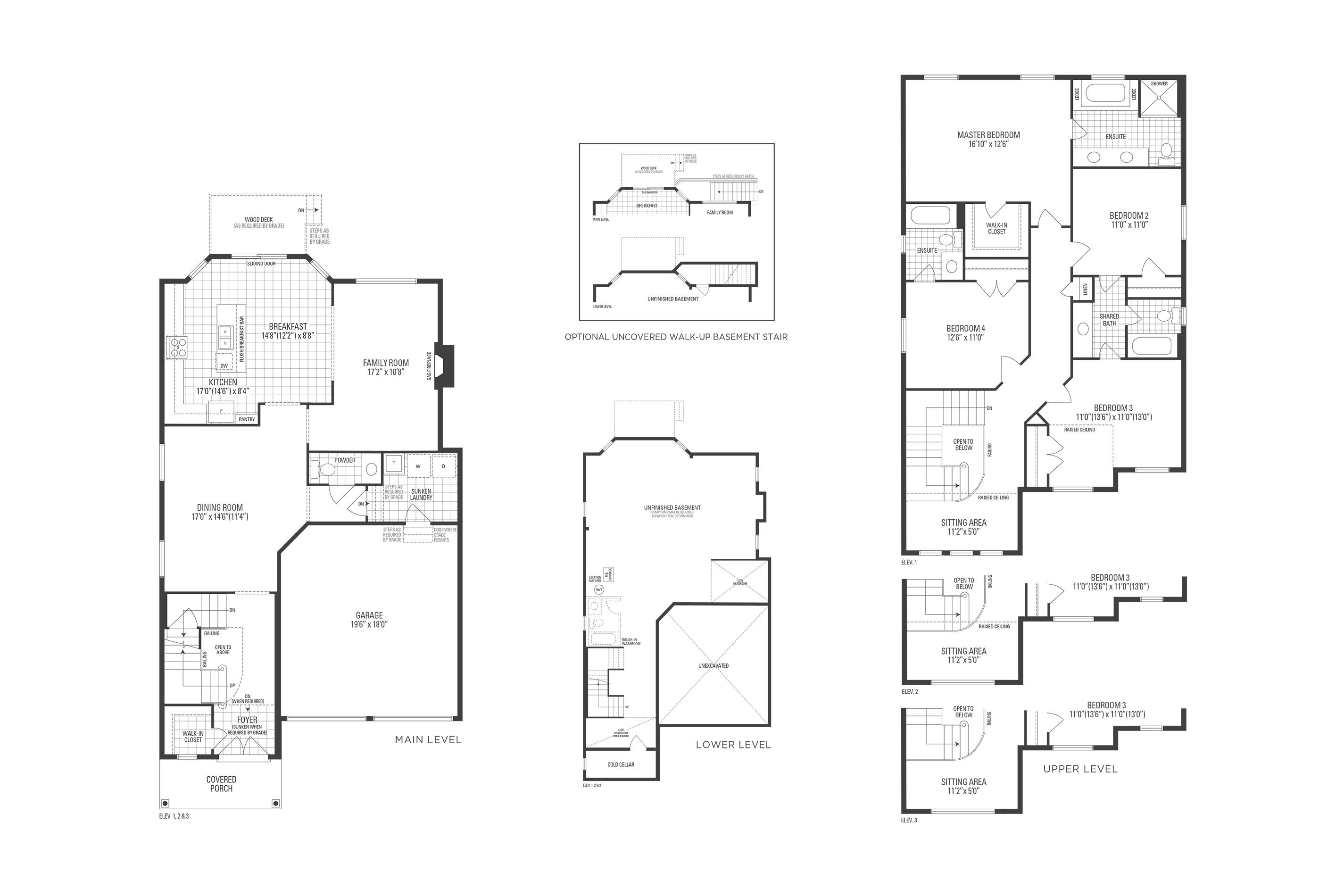 Huntington 02 Elev. 3 Floorplan Thumbnail