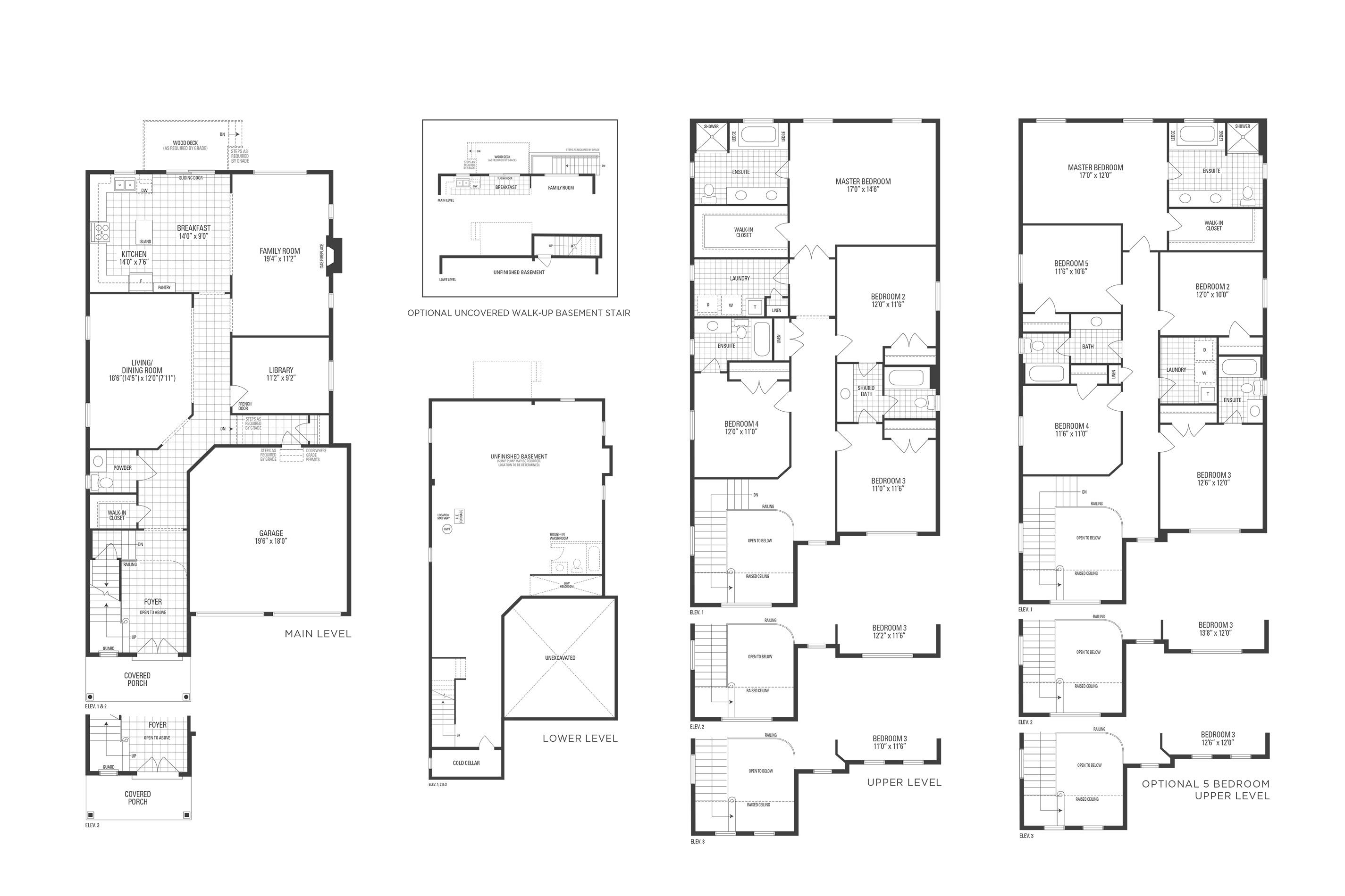 Huntington 05 Elev. 3 Floorplan Thumbnail