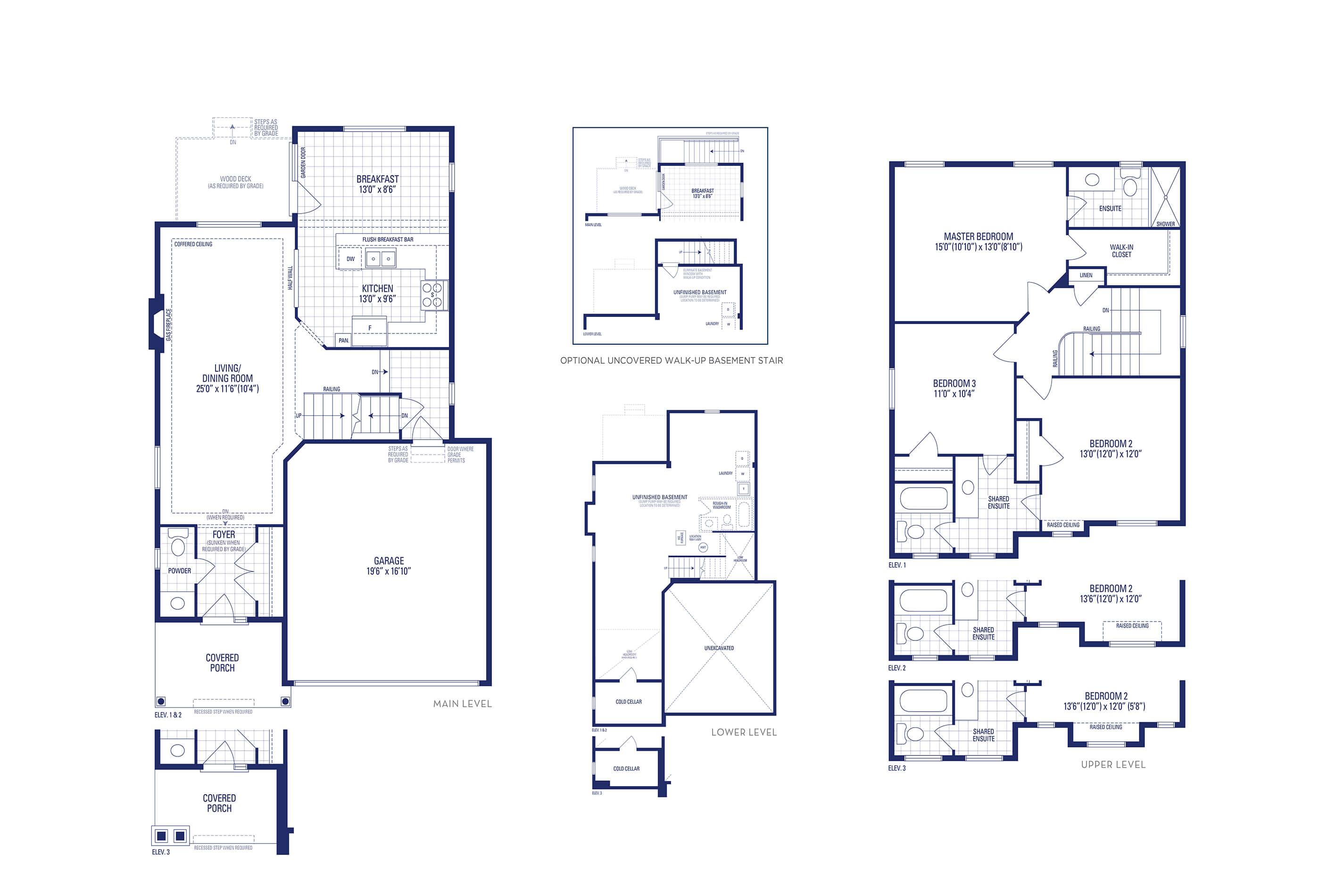 Jersey 01 Elev. 1 Floorplan Thumbnail