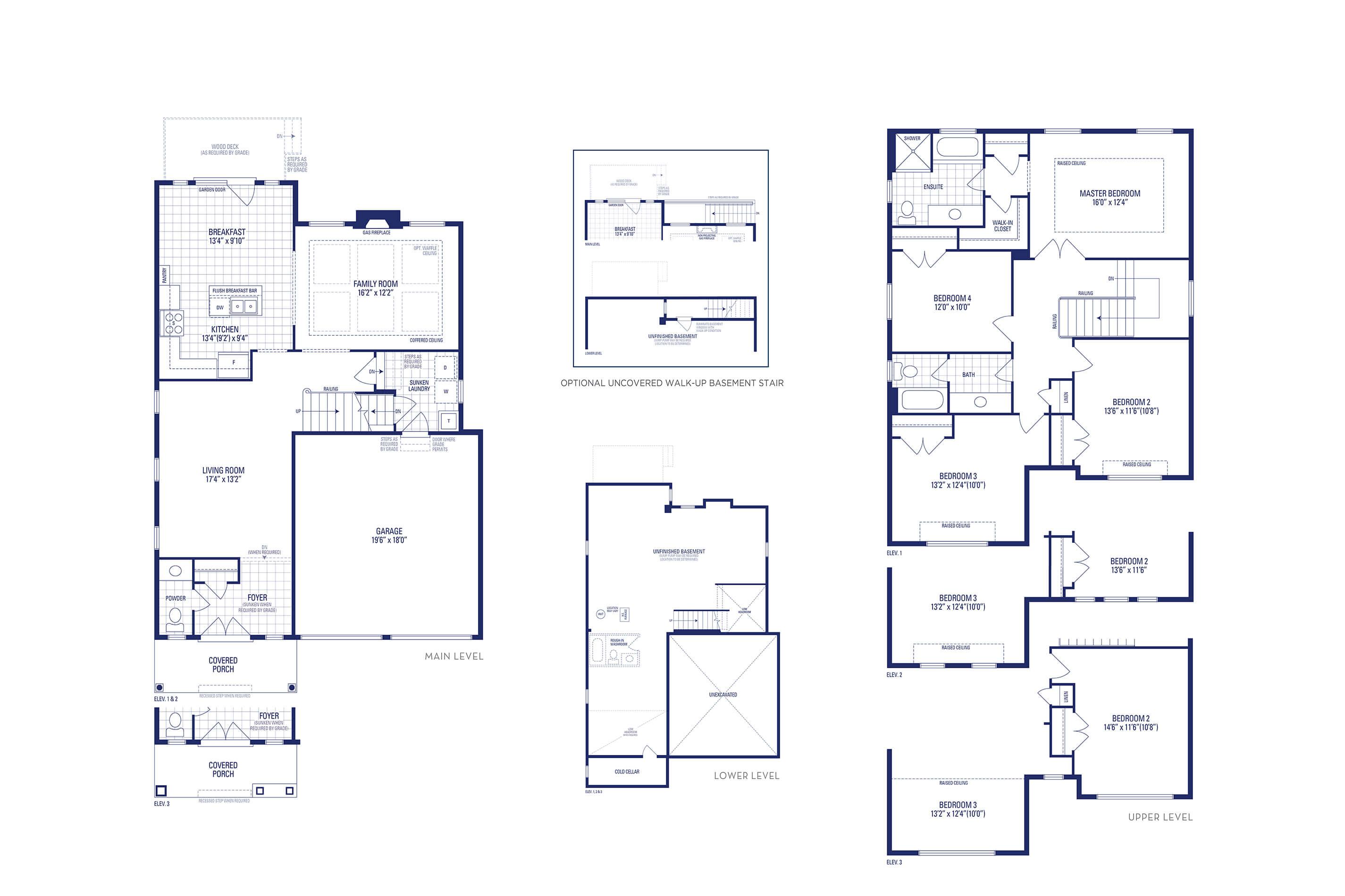 Lincoln 01 Elev. 1 Floorplan Thumbnail