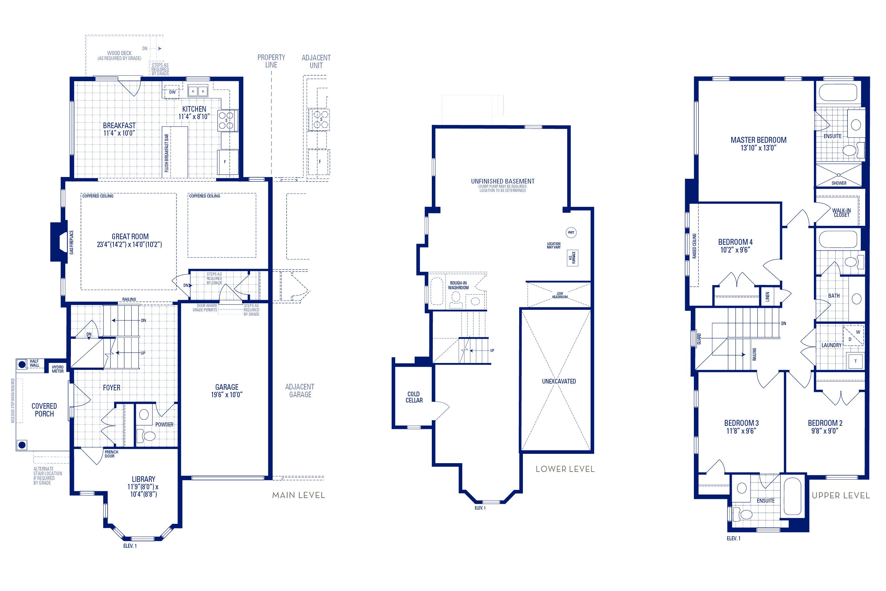 Newberry 12 Elev. 1 Floorplan Thumbnail