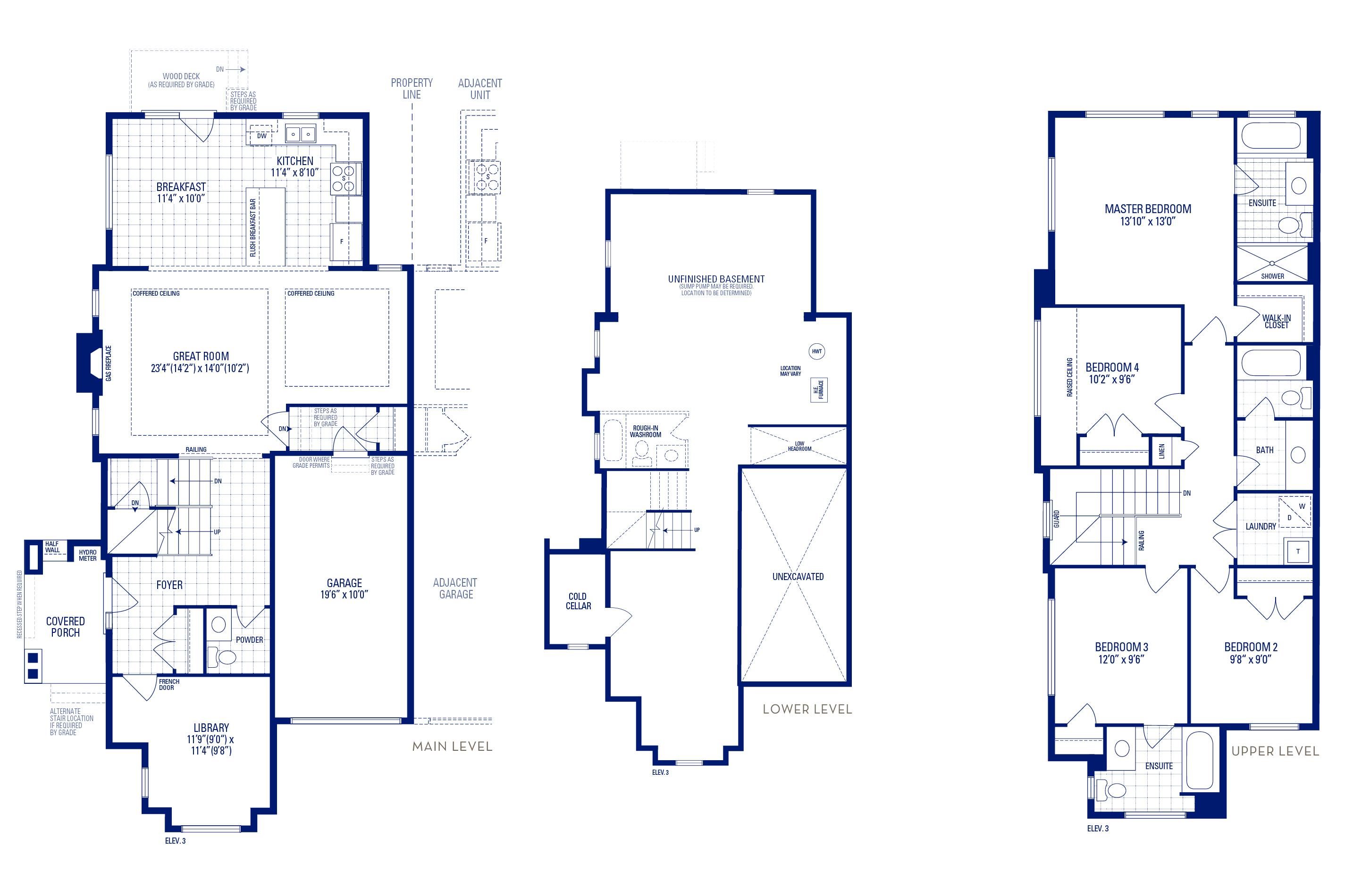 Newberry 12 Elev. 3 Floorplan Thumbnail