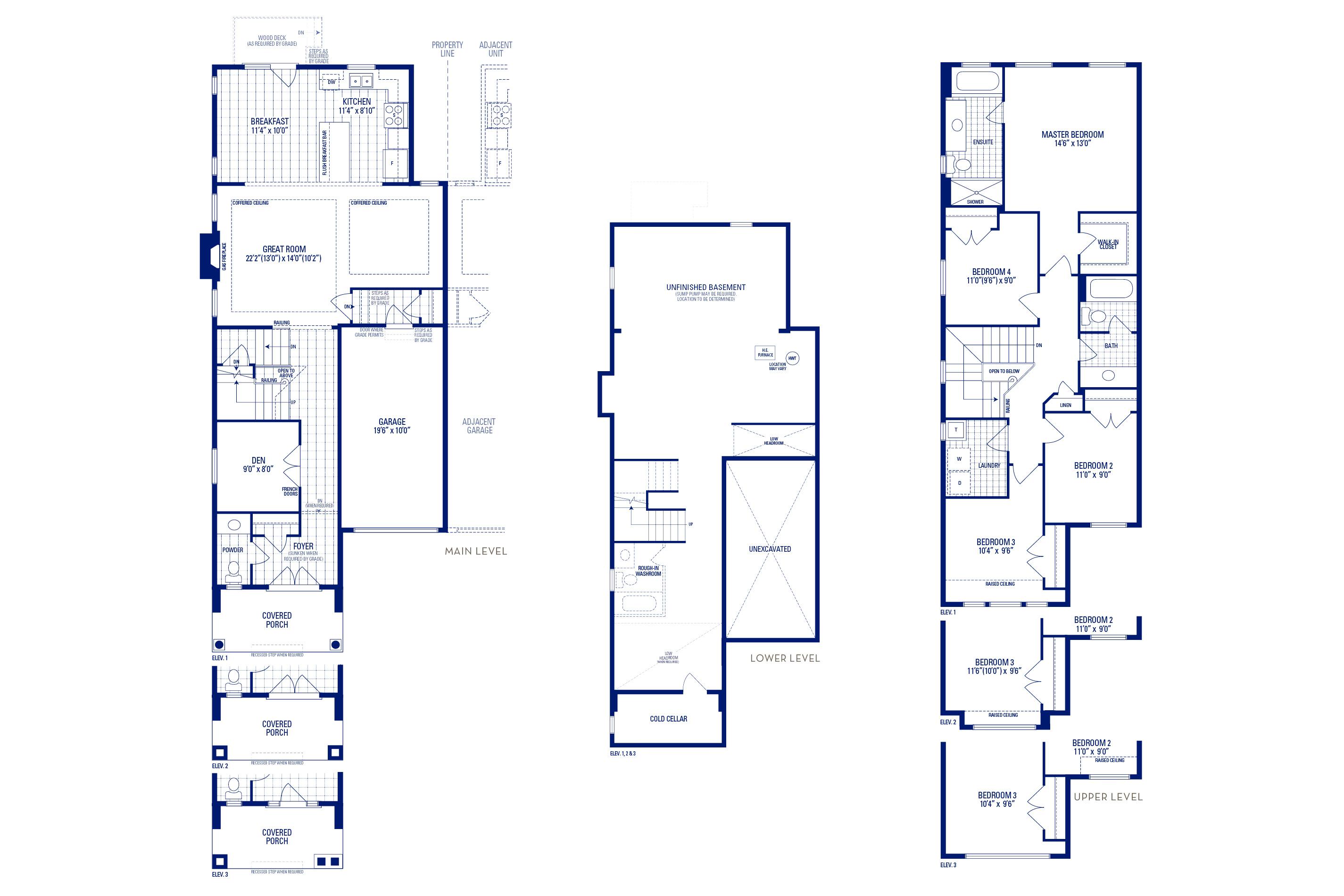 Newberry 02 Elev. 1 Floorplan Thumbnail
