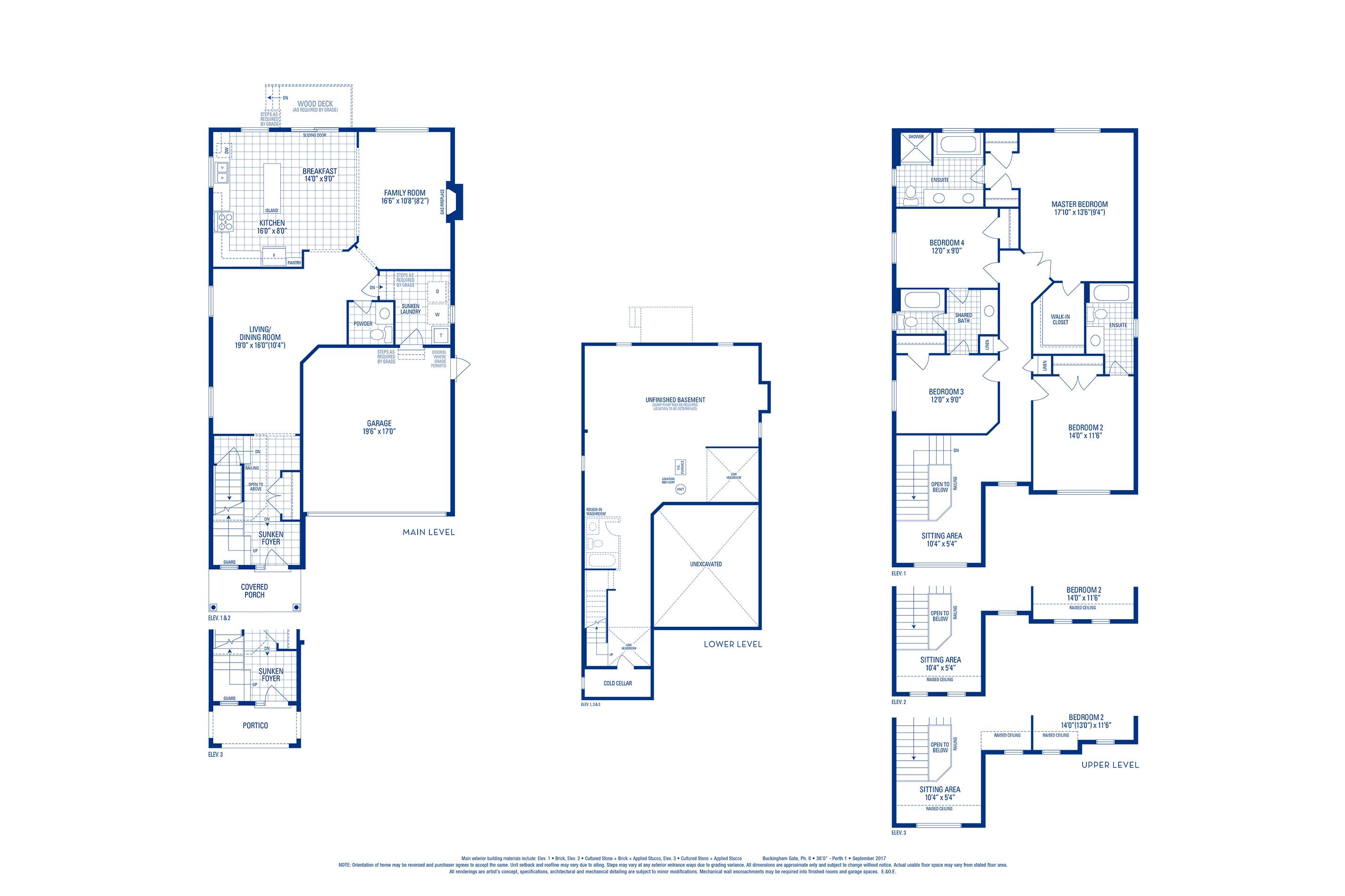 Perth 01 Elev. 3 Floorplan Thumbnail