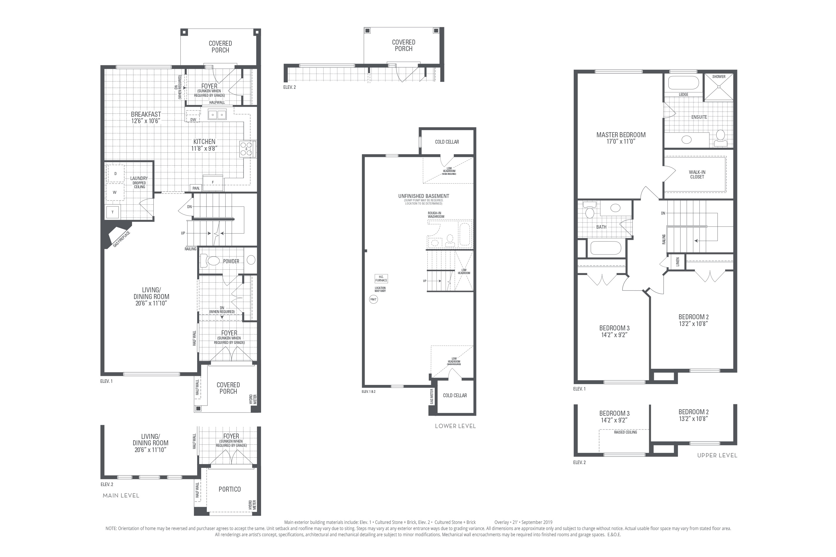 Rosehill 01 Elev. 2 Floorplan Thumbnail