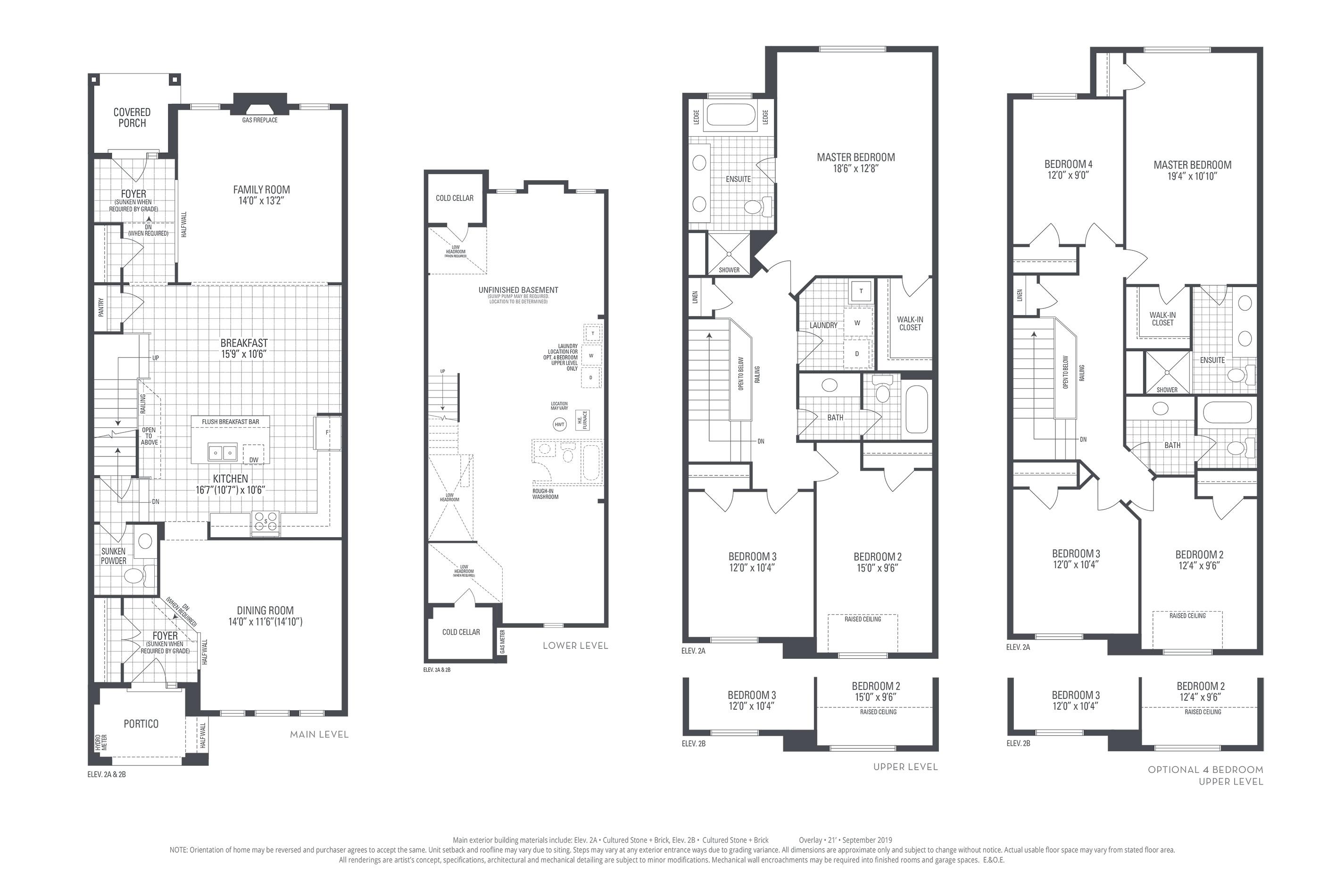 Rosehill 03 Elev. 2B Floorplan Thumbnail