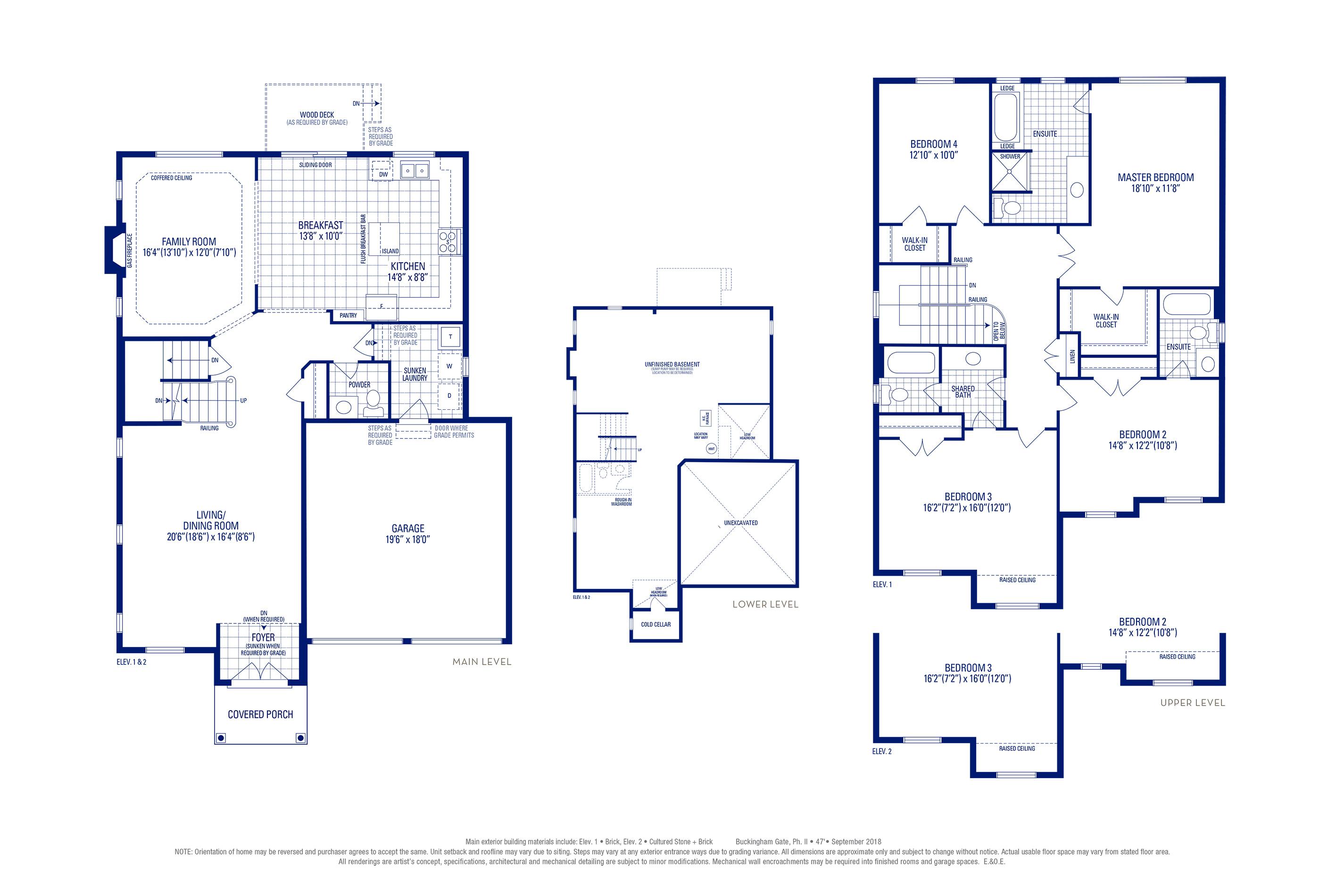 Stafford 02 Elev. 1 Floorplan Thumbnail