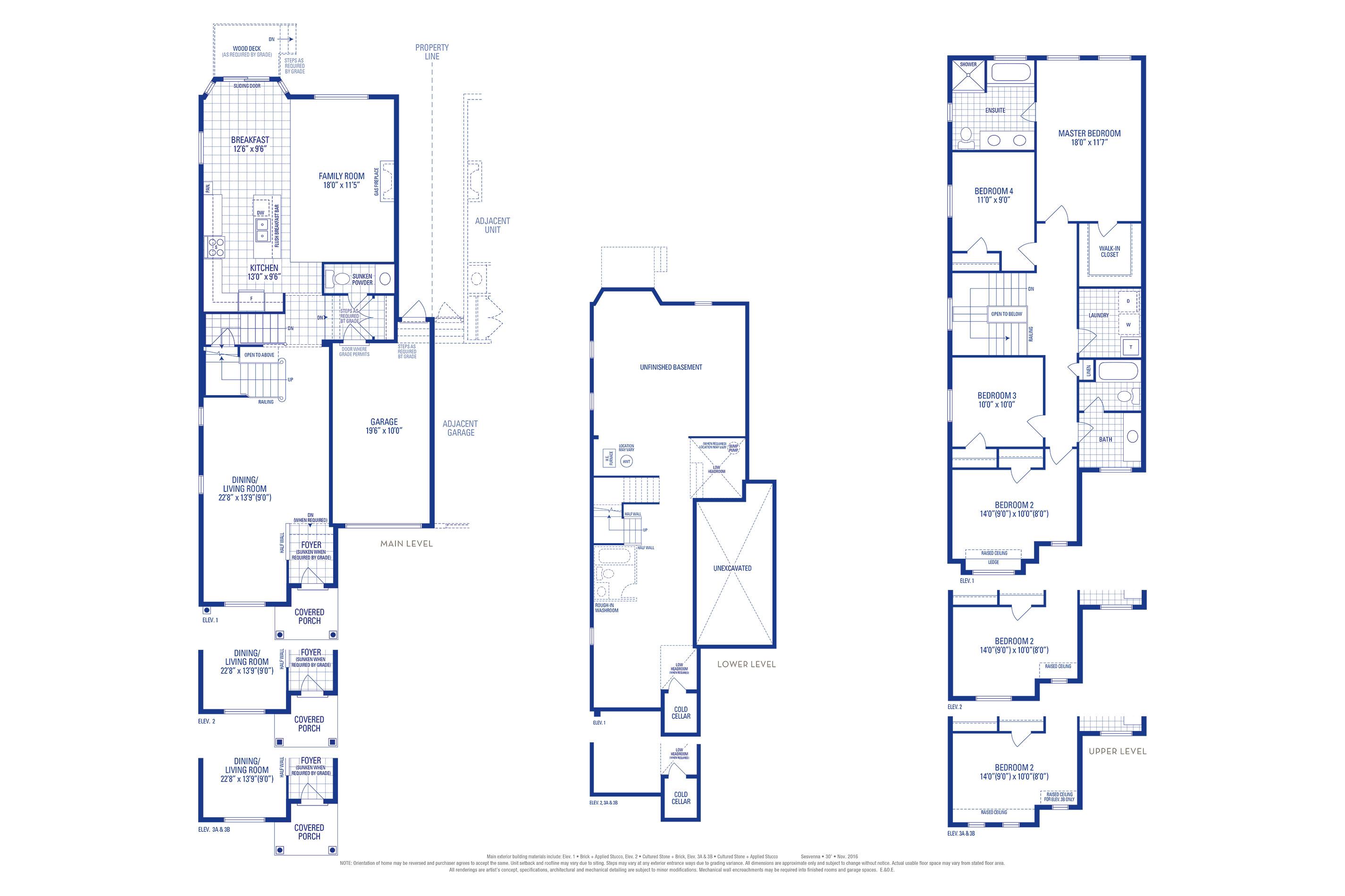 Sutton 05 Elev. 3B Floorplan Thumbnail