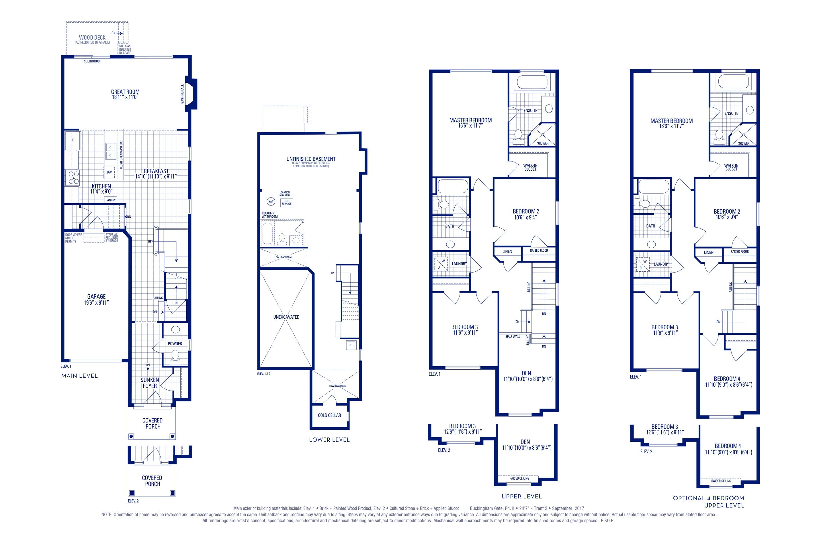 Trent 02 Elev. 1 Floorplan Thumbnail
