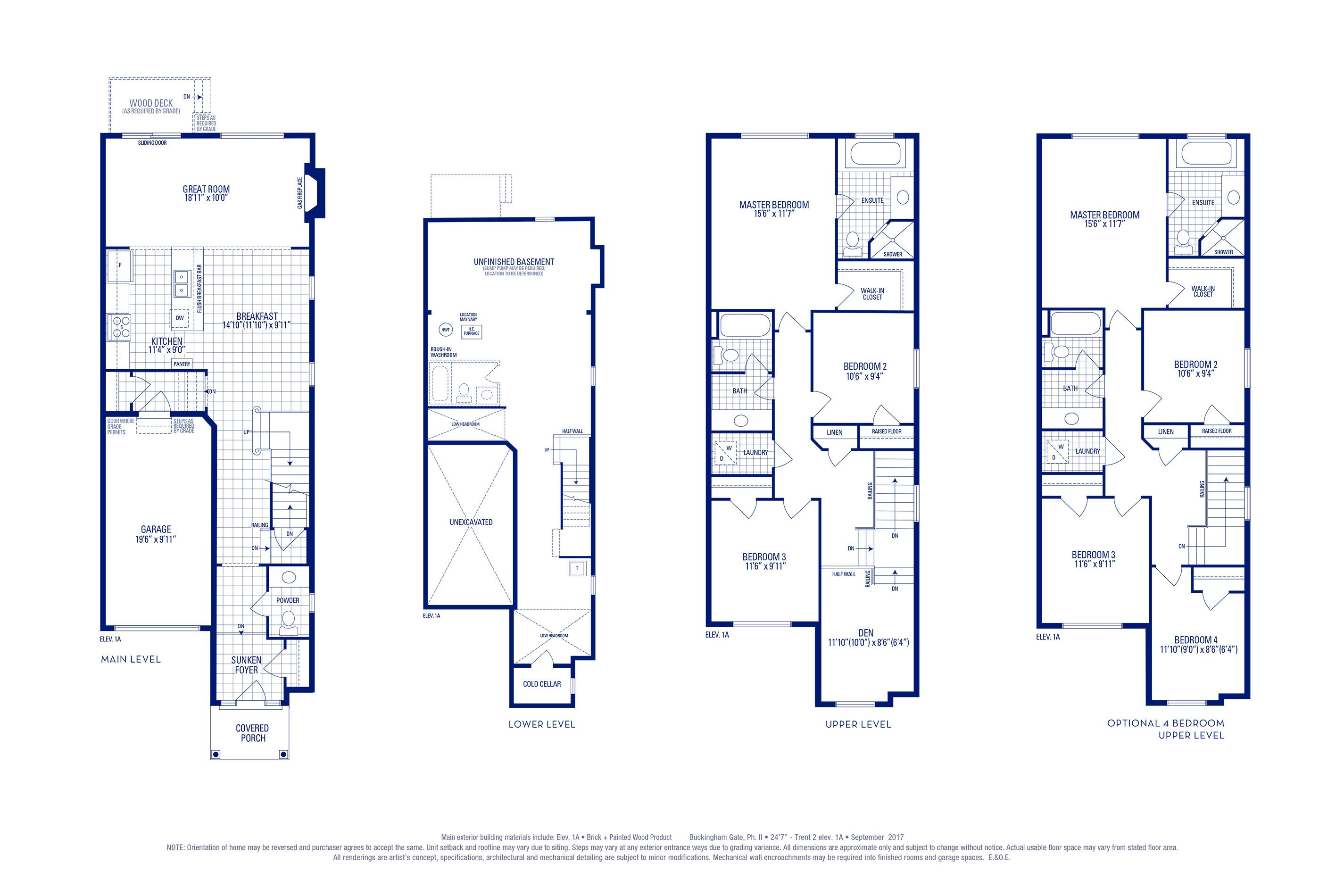 Trent 02 Elev. 1A Floorplan Thumbnail