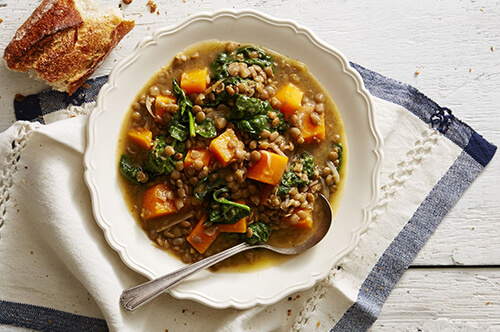 Winter Squash and Lentil Stew