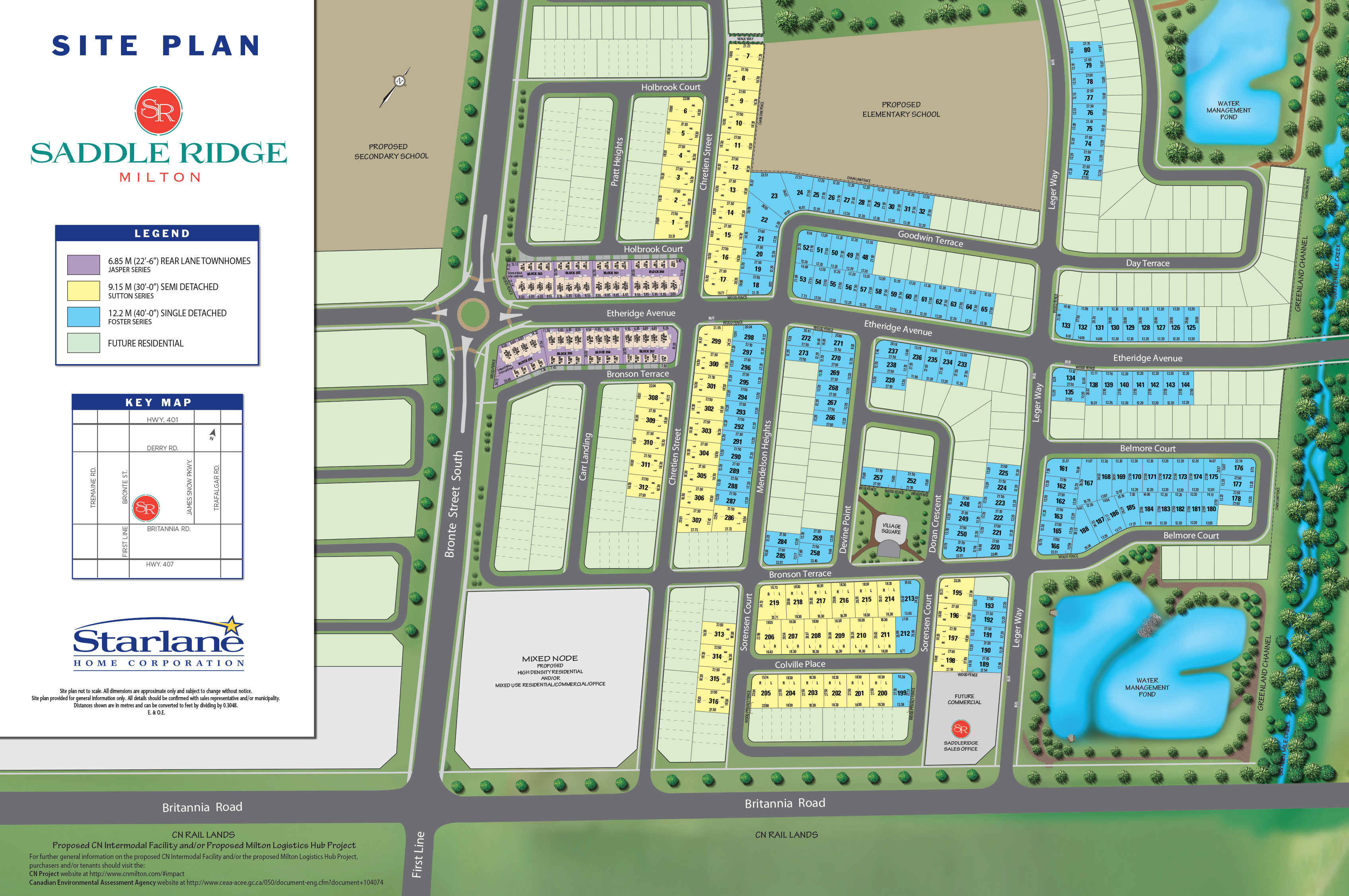 Saddle Ridge Site Plan